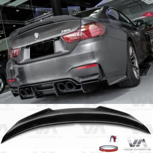 BMW 4 Series M4 F82 PSM Style CARBON FIBER Boot Spoiler