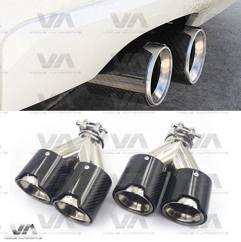 BMW F20 F21 F22 F23 F30 F31 F32 F33 CARBON FIBER Dual Exhaust Tips Set