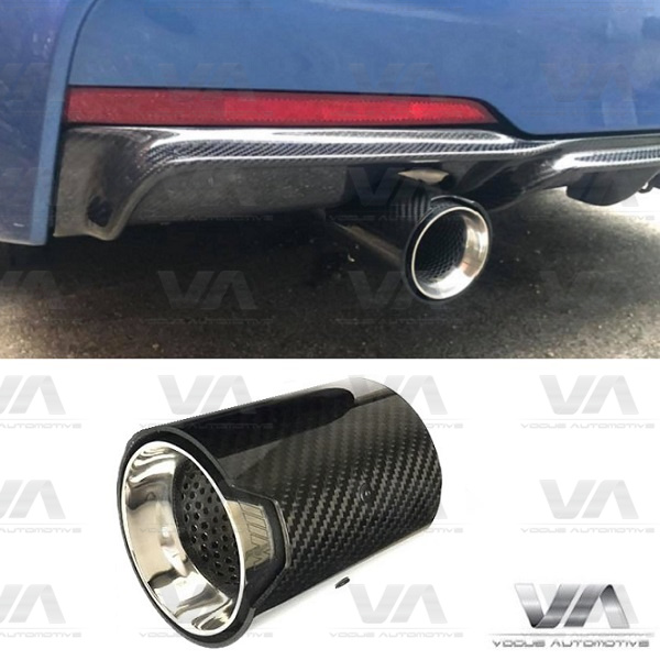 BMW F Series CARBON FIBER SHORT Exhaust Tip