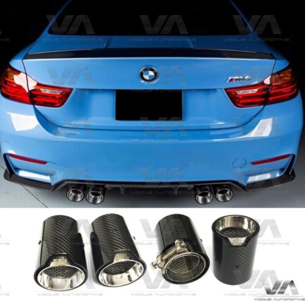 BMW F10 M5 F85 X5M F87 M2 F80 M3 F82 F83 M4 CARBON FIBER Exhaust Tips