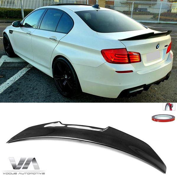 BMW 5 Series F10 M5 PSM Style CARBON FIBER Boot Spoiler
