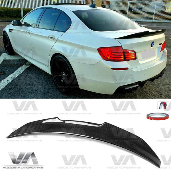 BMW 5 Series F10 M5 PSM Style CARBON FIBER Boot Spoiler