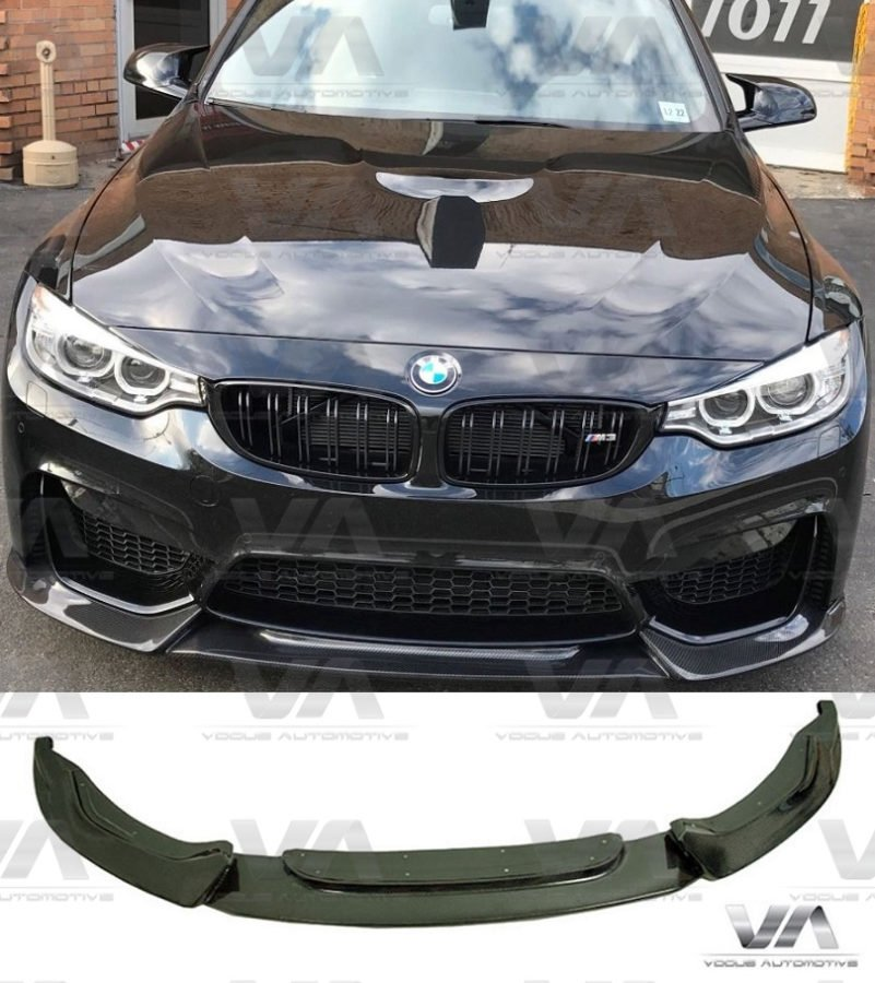 Carbon Fiber Splitters Front Bumper Spoiler Lip Set 14-18 BMW M3 M4 F80 F82 F83