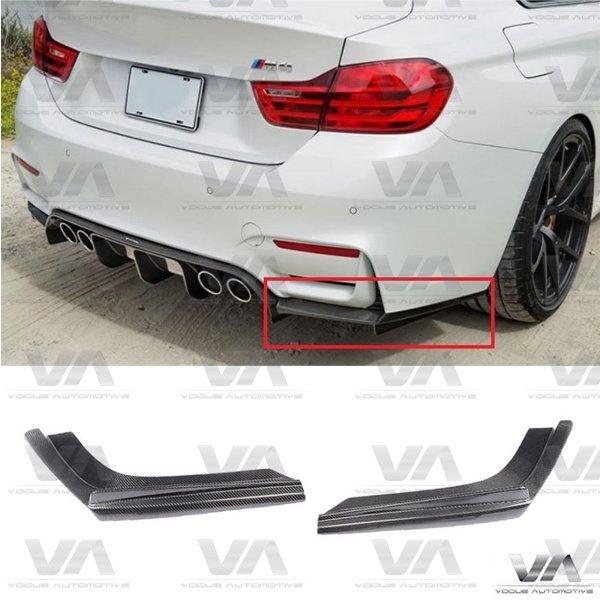 BMW M3 M4 F80 F82 F83 VRS Style CARBON FIBER Rear Corner Splitters