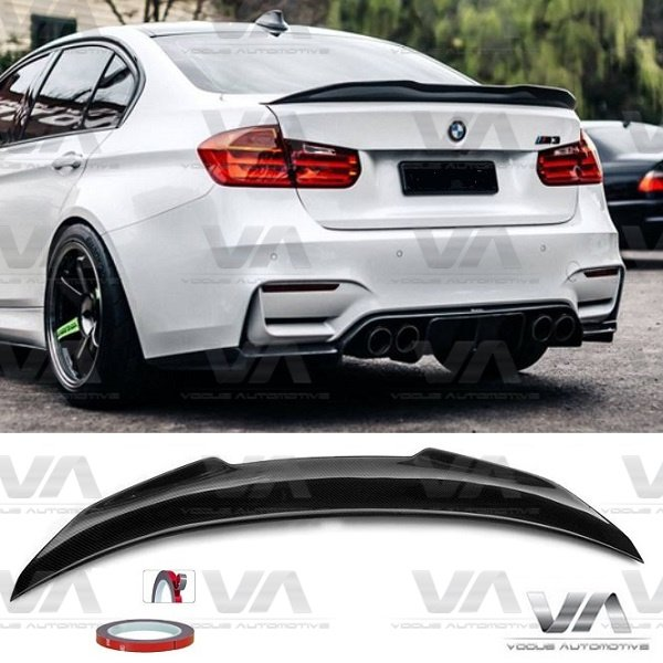 BMW 3 Series M3 F30 F80 PSM Style CARBON FIBER Boot Spoiler
