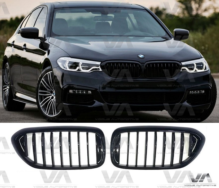 Bmw 5 Series G30 G31 Gloss Black Kidney Grill Grille