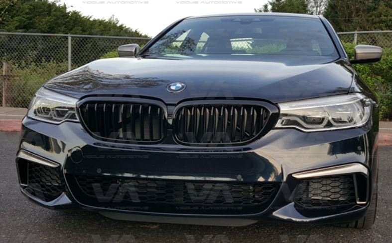 BMW 5 Series G30 G31 GLOSS BLACK Single Kidney Grilles