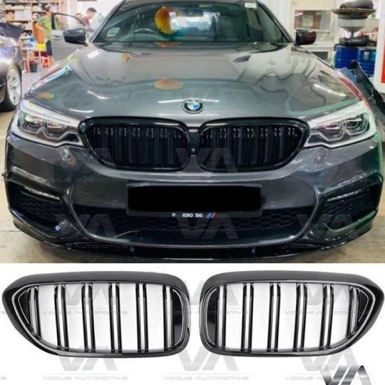 BMW 5 SERIES G30 G31 GLOSS BLACK DOUBLE KIDNEY GRILL GRILLE