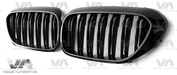 BMW 5 Series G30 G31 GLOSS BLACK Double Kidney Grilles