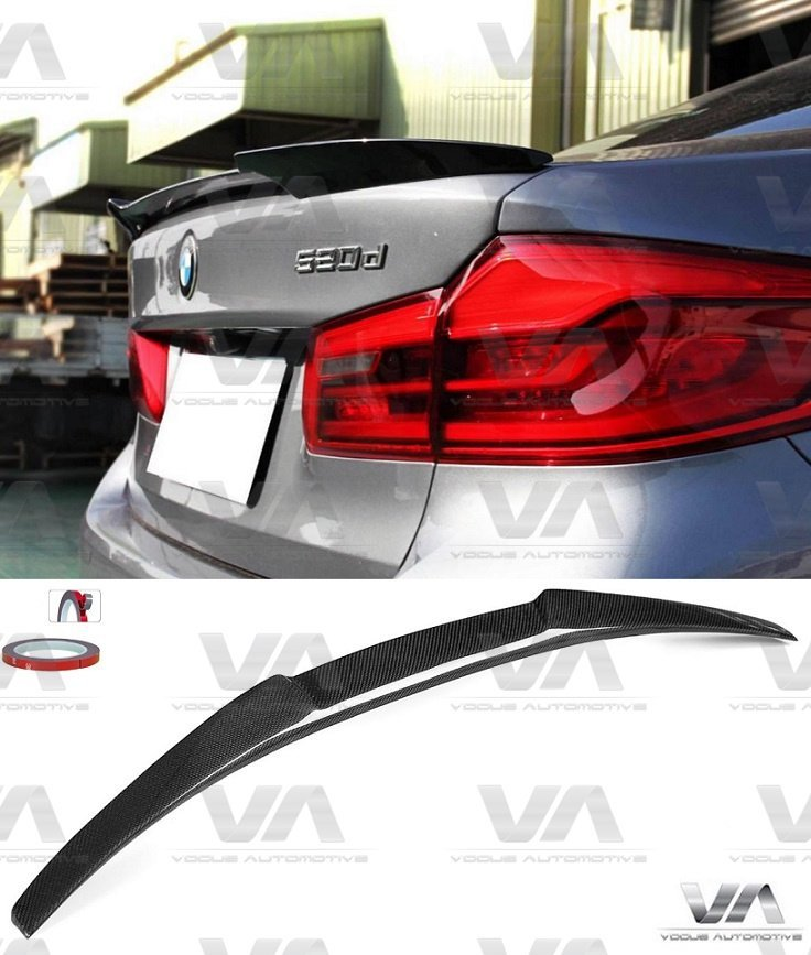 BMW 5 SERIES G30 M5 M4 STYLE CARBON FIBER BOOT TRUNK SPOILER