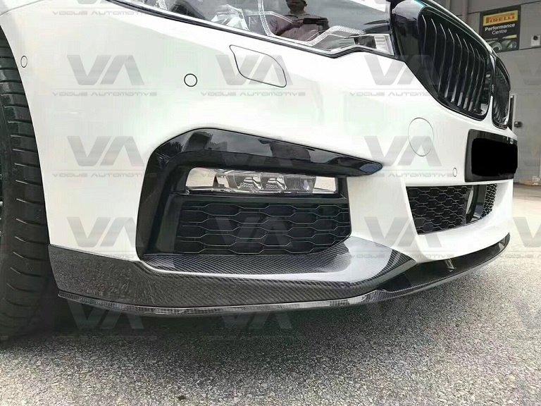 BMW 5 Series M Sport G30 PERFORMANCE Style CARBON FIBER Front Splitter