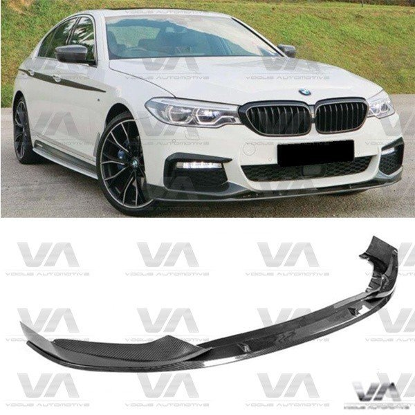 BMW 5 Series M Sport G30 PERFORMANCE Style CARBON FIBER Front Splitter