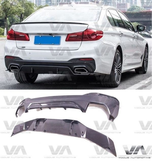 BMW 5 Series M Sport G30 PERFORMANCE Style CARBON FIBER Rear Diffuser