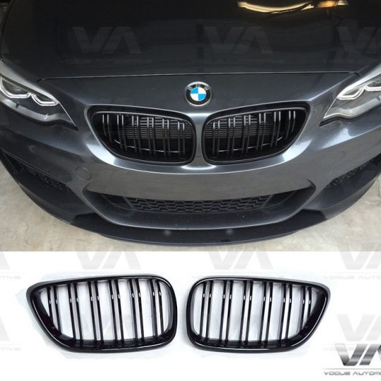 BMW 2 SERIES F22 F23 F87 M2 GLOSS BLACK M STYLE DOUBLE KIDNEY GRILL