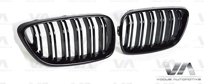 BMW 2 Series F22 F23 F87 M2 GLOSS BLACK M Style Double Kidney Grilles