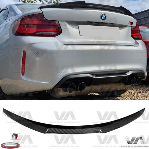 BMW 2 Series F22 F87 M4 Style CARBON FIBER Boot Spoiler