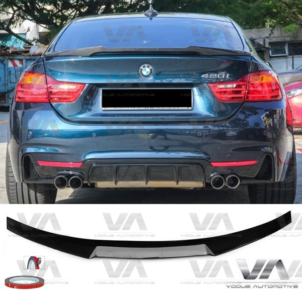 BMW 4 Series F36 M4 Style CARBON FIBER Boot Spoiler