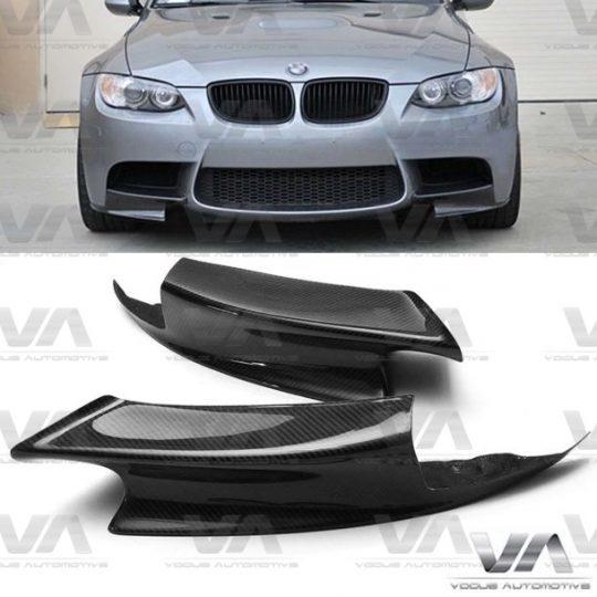 BMW M3 E90 E92 E93 CARBON FIBER FRONT CORNER SPLITTERS
