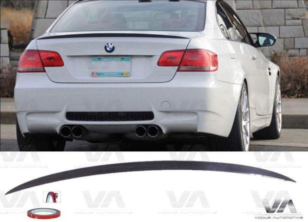 BMW 3 SERIES E92 M3 REAL CARBON FIBER BOOT SPOILER