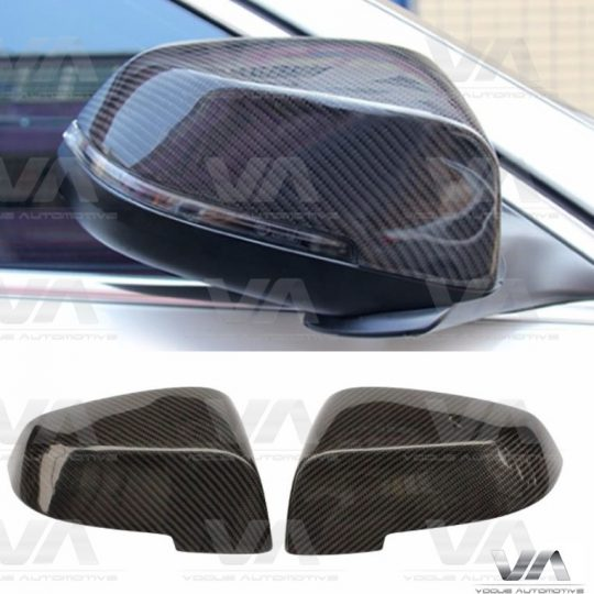 BMW 5 6 7 F10 F11 F12 F01 LCI DIRECT REPLACEMENT CARBON FIBER MIRROR COVERS
