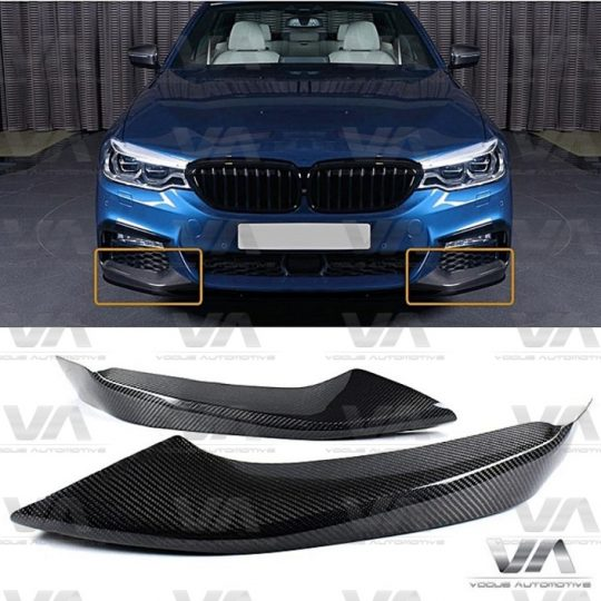 BMW 5 SERIES M SPORT G30 G31 PERFORMANCE CARBON FIBER CORNER SPLITTERS