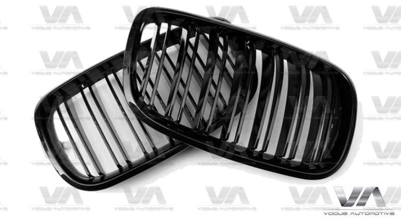 BMW X5 X6 Series E70 E71 M Style GLOSS BLACK Double Kidney Grilles