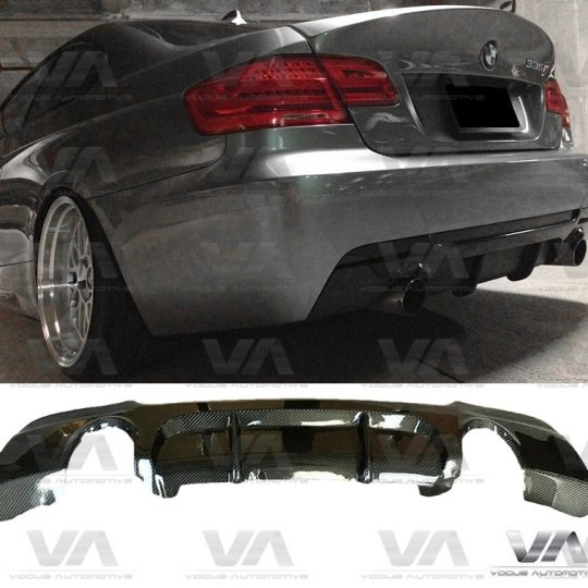 BMW 3 Series E92 E93 M Sport PERFORMANCE Style CARBON FIBER Dual Exhaust Rear Diffuser