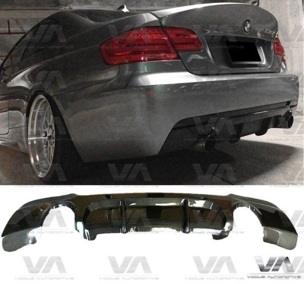 BMW 3 Series E92 E93 M Sport PERFORMANCE Style CARBON FIBER Dual Exhaust Rear Diffuser