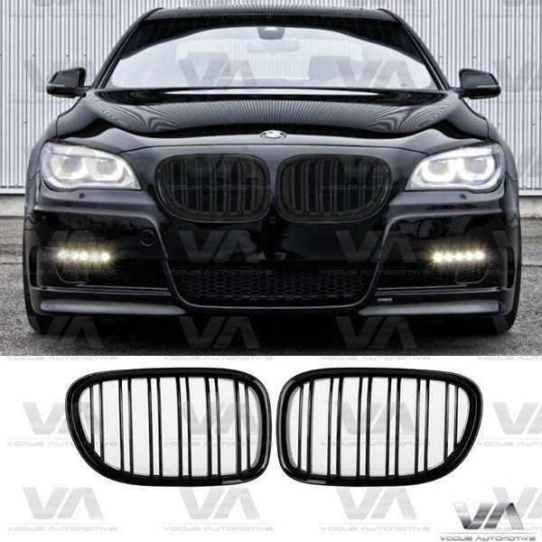 BMW 7 Series F01 F02 F03 F04 GLOSS BLACK Double Kidney Grilles