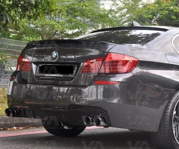 BMW 5 Series M Sport F10 F11 PERFORMANCE Style Quad Exhaust Rear Diffuser