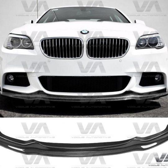 BMW 5 SERIES F10 F11 M SPORT AK CARBON FIBER FRONT LIP SPOILER SPLITTER