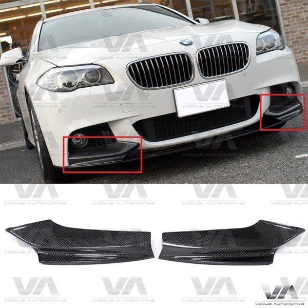 BMW 5 Series M Sport F10 F11 CARBON FIBER Front Corner Splitters
