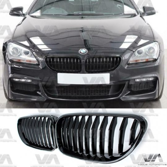 BMW 6 Series F06 F12 F13 M Style GLOSS BLACK Single Kidney Grilles