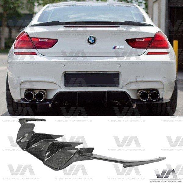 BMW 6 Series M6 F06 F12 F13 CARBON FIBER V Style Rear Diffuser