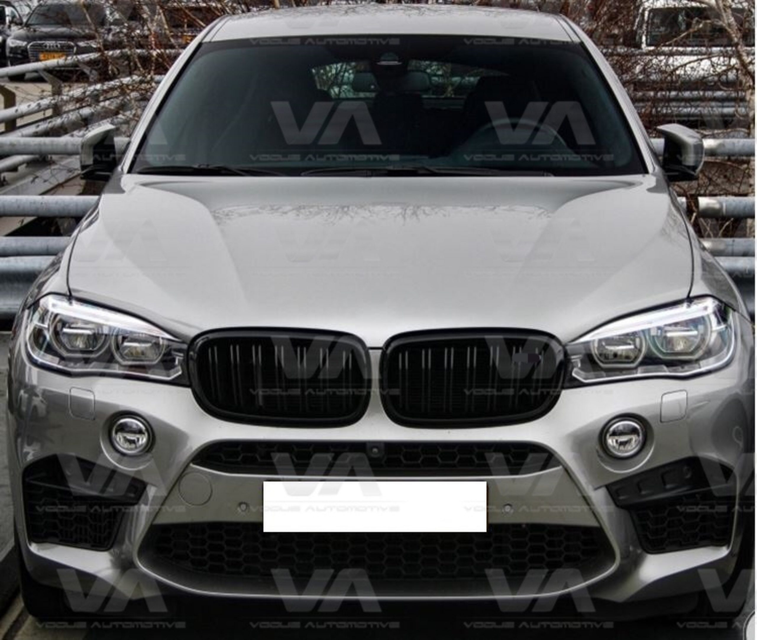 BMW X5 X6 Series F15 F16 M Style GLOSS BLACK Double Kidney Grilles