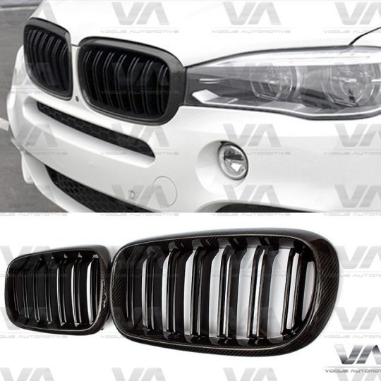 BMW X5 X6 SERIES F15 F16 M STYLE CARBON FIBER DOUBLE KIDNEY GRILL GRILLE