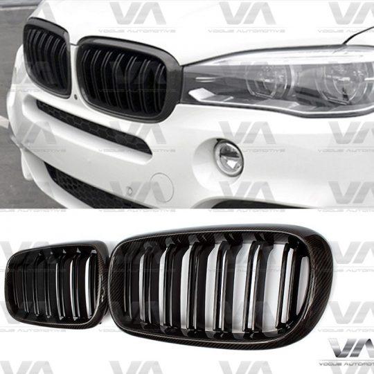 BMW X5 X6 Series F15 F16 M Style CARBON FIBER Double Kidney Grilles