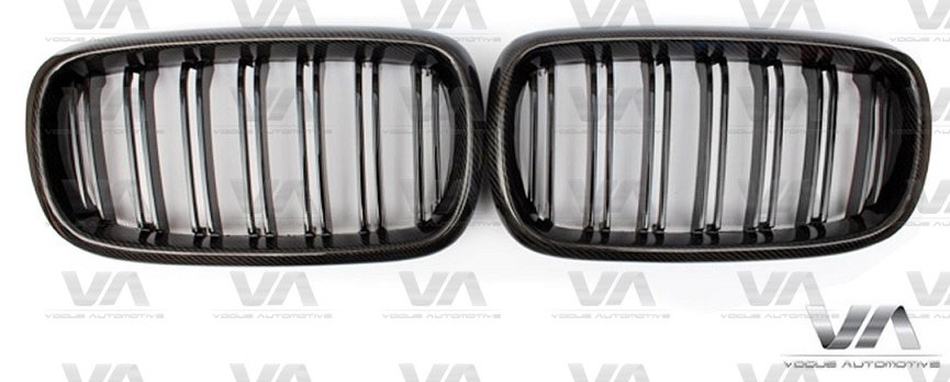 BMW X5 X6 X5M X6M Series F15 F16 F85 F86 M Style CARBON FIBER Double Kidney Grilles