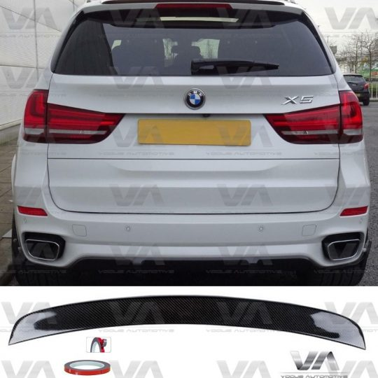 BMW X5 M F15 PERFORMANCE REAL CARBON FIBER ROOF TRUNK LIP SPOILER