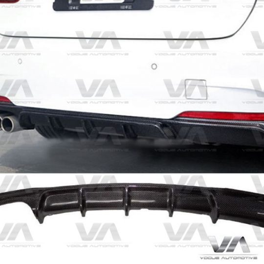 BMW 3 SERIES F30 F31 M SPORT PERFORMANCE CARBON FIBER DIFFUSER DOUBLE EXHAUST