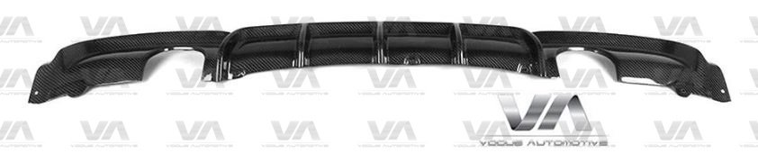 BMW 3 Series F30 F31 M Sport PERFORMANCE Style CARBON FIBER Dual Exhaust Rear Diffuser
