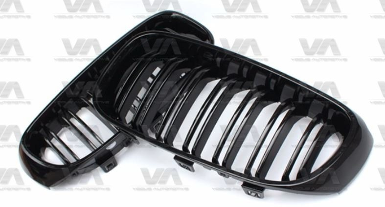 BMW 3 Series F34 GT GLOSS BLACK Double Kidney Grilles