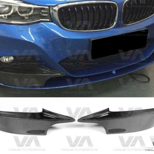 BMW 3 SERIES F34 GT M SPORT BUMPER CARBON FIBER CORNER SPLITTERS