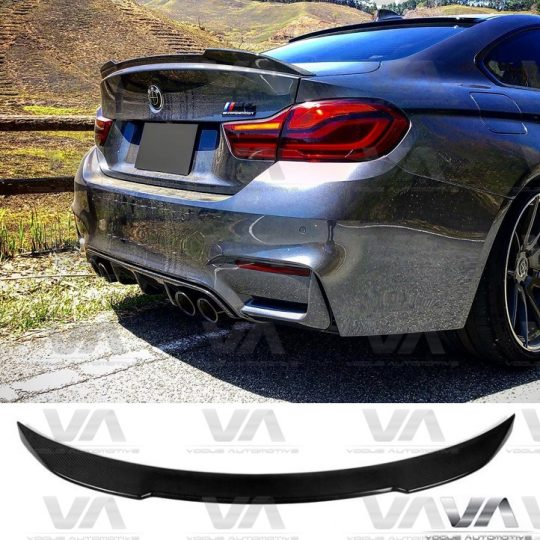 BMW M4 F82 CS STYLE REAL CARBON FIBER BOOT TRUNK LIP SPOILER