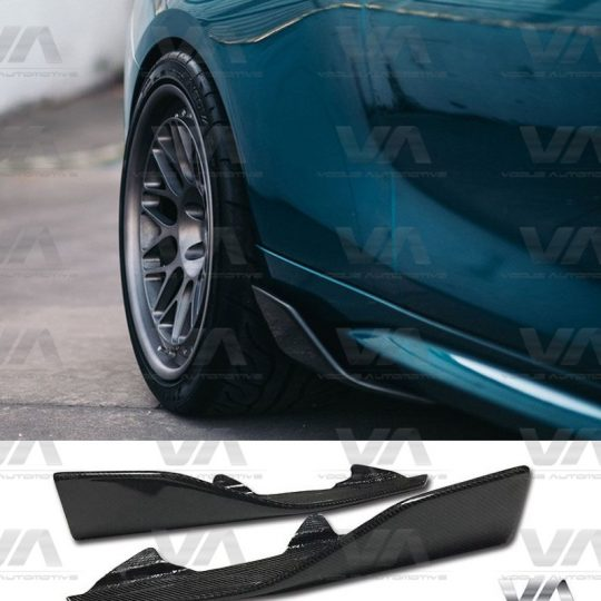 BMW M2 F87 CARBON FIBER SIDE SKIRT SPLITTERS EXTENSIONS