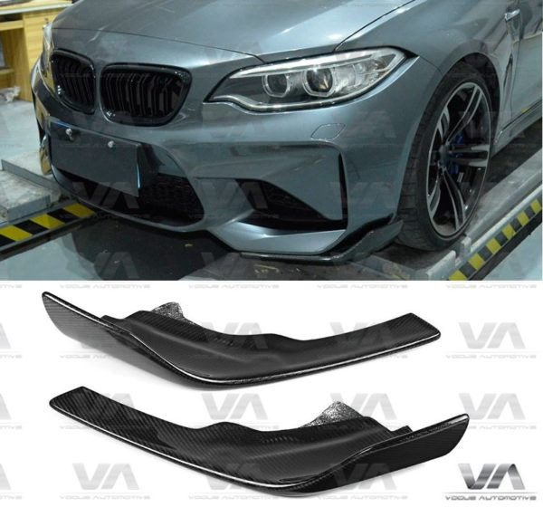 BMW M2 F87 PERFORMANCE Style CARBON FIBER Corner Splitters