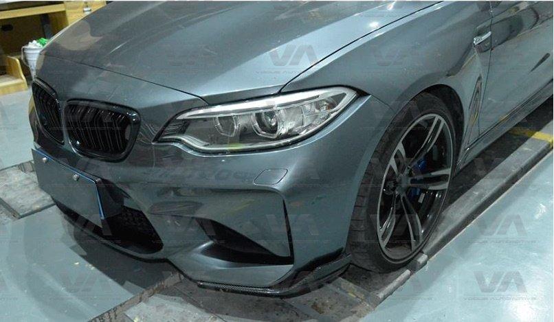 BMW M2 F87 PERFORMANCE Style CARBON FIBER Corner Splitters