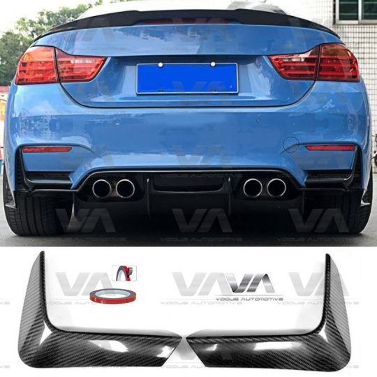 BMW F80 F82 F83 M3 M4 REAR BUMPER CARBON FIBER CORNER COVERS SPLITTERS