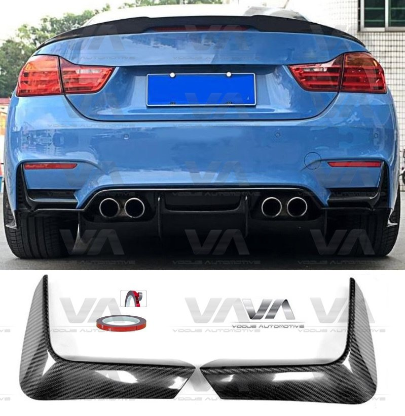 BMW M3 M4 F80 F82 F83 CARBON FIBER Rear Corner Covers
