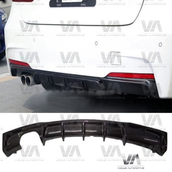 BMW 3 Series F30 F31 M Sport PERFORMANCE Style CARBON FIBER Double Exhaust Rear Diffuser